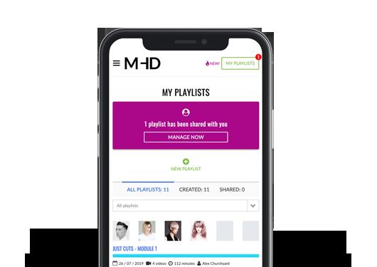 Playlist development support