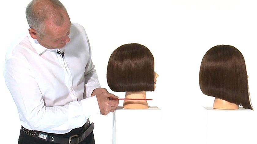 Horizontal one length line - one length haircut