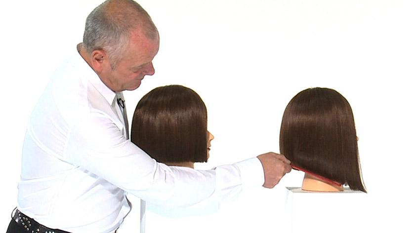 Diagonal forward one length haircut