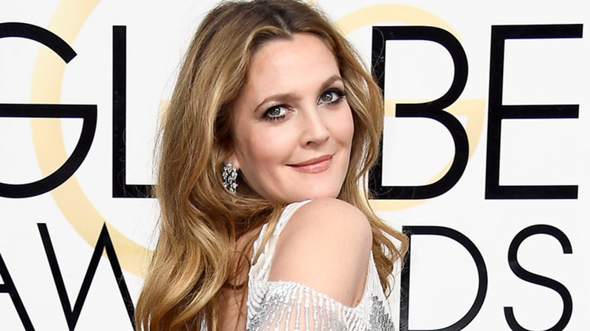Drew Barrymore's Golden Globes hairstyle