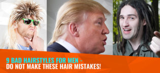 9 bad hairstyles for men – Do not make these hair mistakes!