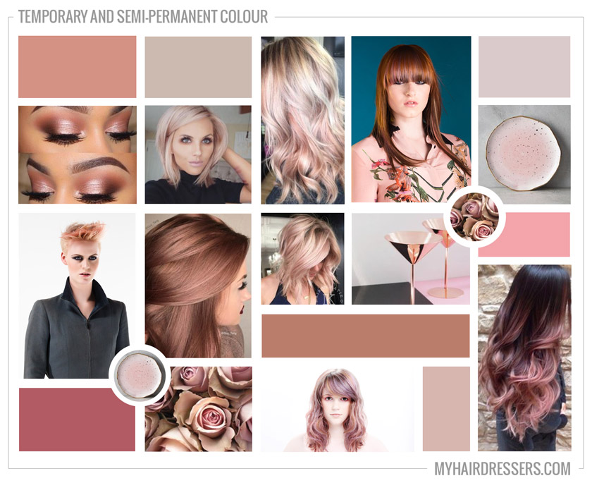 Use a mood board to plan your hair colour ideas