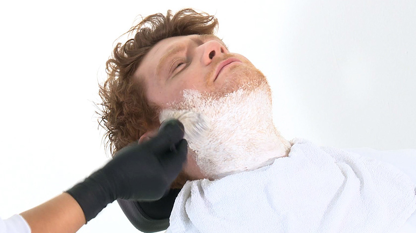 Step 4: Apply the lather