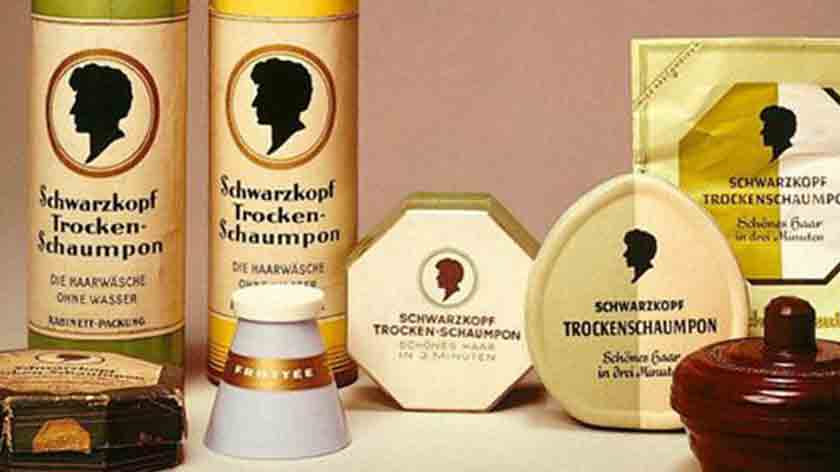 The very first shampoo and hair care products from German chemist Hans Schwarzkopf