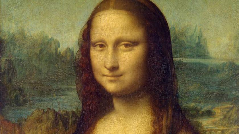 Mona Lisa loved a bit of lizard in her hair.
