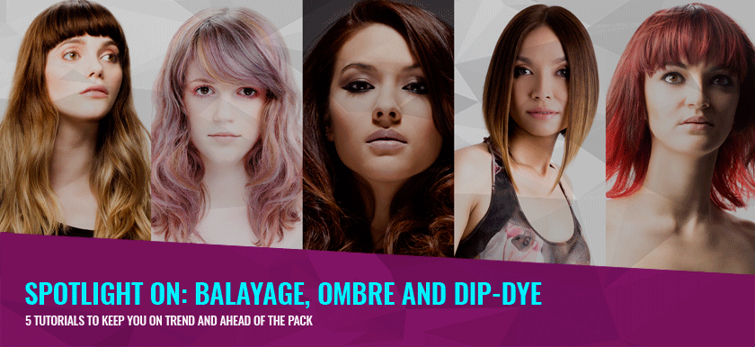 Stay on trend with our balayage, ombre and dip dye tutorials