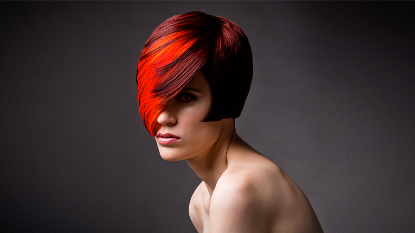 Bold and contemporary, learn the pivoting colour gradient technique (red, naturally) with Charmaine Piche