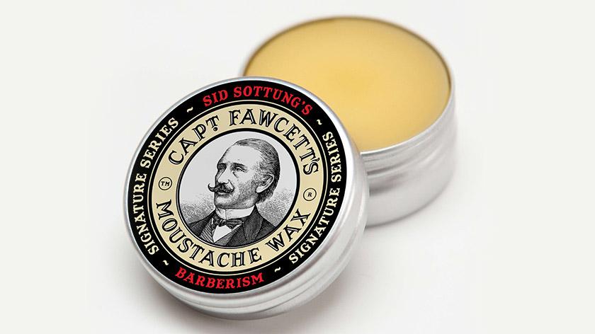 Sid Sottung's Barberism Moustache Wax for Captain Fawcett