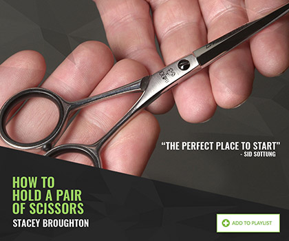 How to hold a pair of scissors by Stacey Broughton