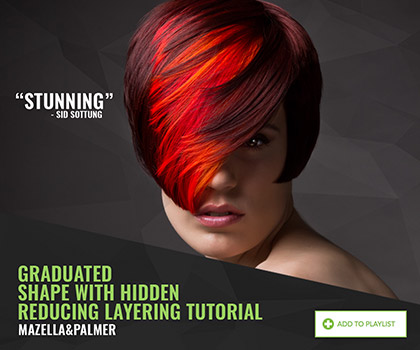 Graduated shape with hidden reducing layering by Mazella&Palmer