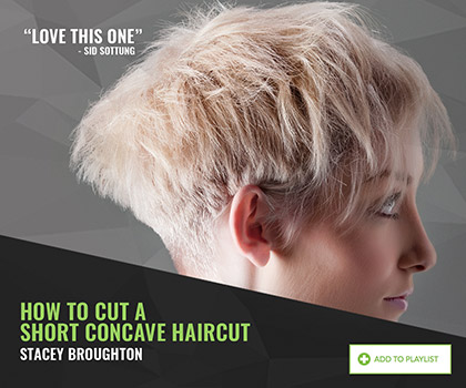 How to cut a short concave by Stacey Broughton